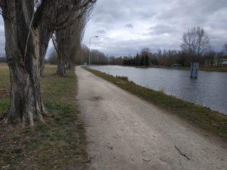 Místo konání závodu Labe revirům a zakrmování na řece