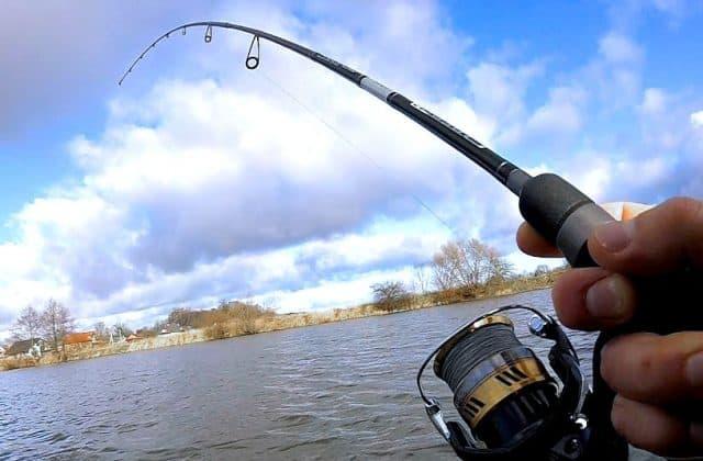 akce prutu při zdolávání ryby